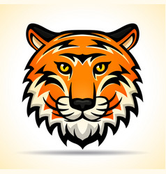 Tiger head graphic design vector