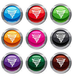 tornado set 9 collection vector image