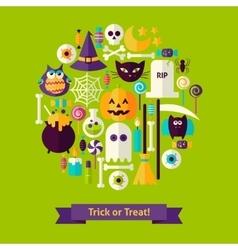 Trick or Treat Halloween Concept vector image