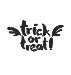 Trick or treat with wings vector