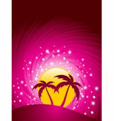 tropical paradise sunset vector image