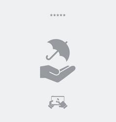 Umbrella - minimal icon vector