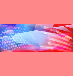 usa independence day abstract crystal background vector image
