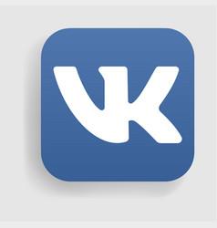vk logo icon vector image