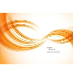 Wavy orange background vector image