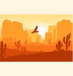 wild west texas desert landscape vector image