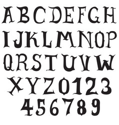doodle font vintage style collection vector image vector image