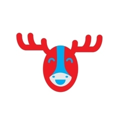 Flat icon on white background canadian moose vector