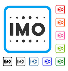 Imo caption framed icon vector