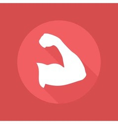 Muscle icon vector image