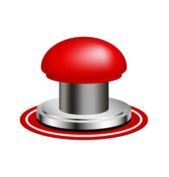 red alert push button vector image