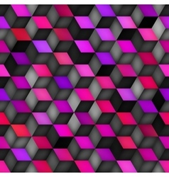 Seamless Multicolor Gradient Cube Shape vector image vector image