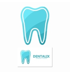 Set of dental logos tooth design vector image vector image