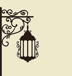 Vintage forging ornate street lantern isolated vector image vector image