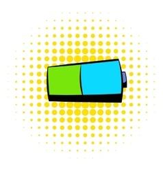 Battery icon comics style vector