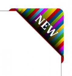 corner business ribbon vector image