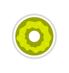 label icon on design sticker collection donut with vector image