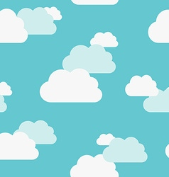 Beautiful clouds seamless pattern vector image vector image