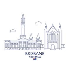 brisbane city skyline vector image