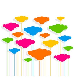 cloud design pattern background vector image vector image