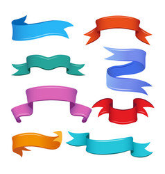 different banners and ribbons in cartoon style vector image vector image