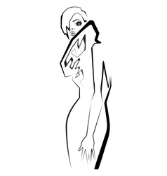 Fashion model Scetch vector image