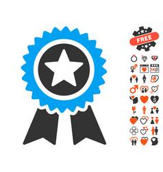 guarantee icon with love bonus vector image vector image