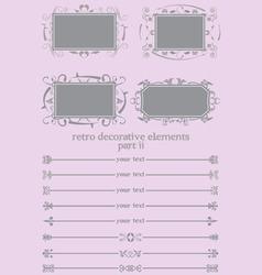 retro decorative elements ii vector image