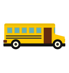 school bus icon isolated vector image vector image
