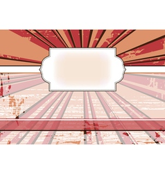vintage frame for a web site with the rays in the vector image vector image