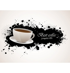 Background with coffee cup vector image