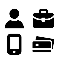 Businessman personal items vector image vector image