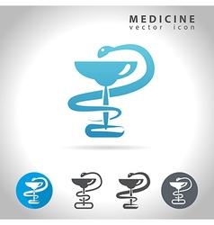 medicine blue icon vector image