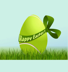 Tennis Easter egg vector image vector image