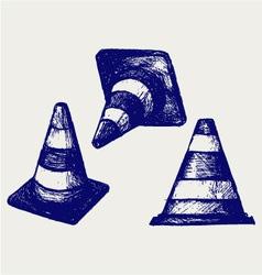 Traffic cones vector image vector image