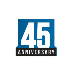 45th anniversary icon birthday logo vector image