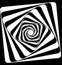 A black and white optical vasarely vector