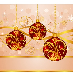 Abstract background with christmas balls - vector