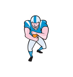 American Football Running Back Fending Cartoon vector image