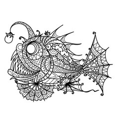 Anglerfish vector