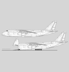 Antonov an-124 ruslan condor vector