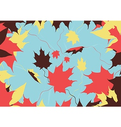 autumn leaves color vector image