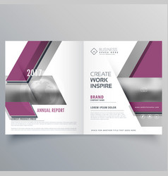 bi fold business brochure design template leaflet vector image