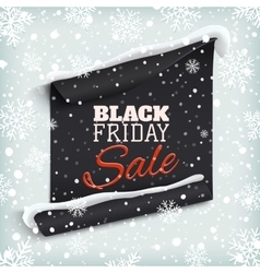 Black Friday sale Curved paper banner vector image