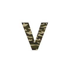 camouflage logo letter v vector image