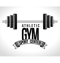 Cartoon athletic gym fitness sport design vector