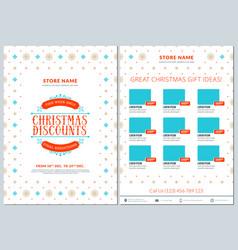 Christmas sale catalog design business flyer vector