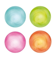 Circles icon Watercolor design graphic vector