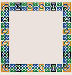 Colorful moorish seamless mosaic ornament vector
