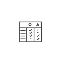Compare chart icon vector